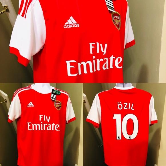bf9514a558f NEW 2019 Adidas Arsenal Özil  10 Soccer Jersey